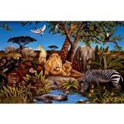 York Wallcoverings Portfolio II Jungle Scene with Animals Wall Mural; 72'' H x 126'' W