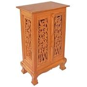EXP D cor Acacia 2 Door Storage Cabinet; Natural