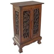EXP D cor Acacia 2 Door Storage Cabinet; Rich Dark