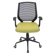 LumiSource Mid-Back Network Office Chair; Black / Green