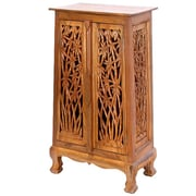 EXP Acacia 23'' Bamboo Forest Storage Cabinet; Rich Dark