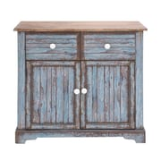 Woodland Imports Beautiful Wood Cabinet