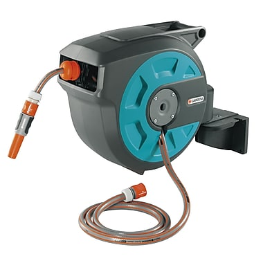 Gardena Auto Roll Up Swivel Hose Reel; 50 ft