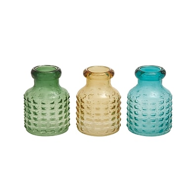 Woodland Imports The Glass Vase (Set of 3); 8'' H x 6'' W x 6'' D
