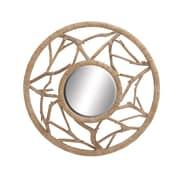Woodland Imports Stunning Wood Wall Mirror