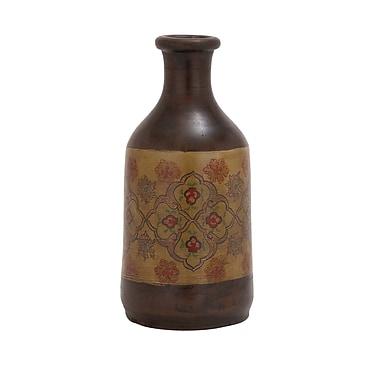 Woodland Imports Exquisite Styled Terracotta Painted Vase