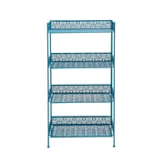 Woodland Imports Metal  tag re Baker's Rack; Blue