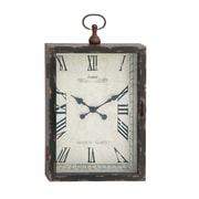 Woodland Imports The Ravishing Wood Metal Wall Clock