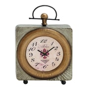Woodland Imports Classic Customary Metal Table Clock