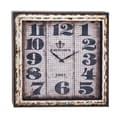 Woodland Imports Intentionally Aged Metal Wall Clock