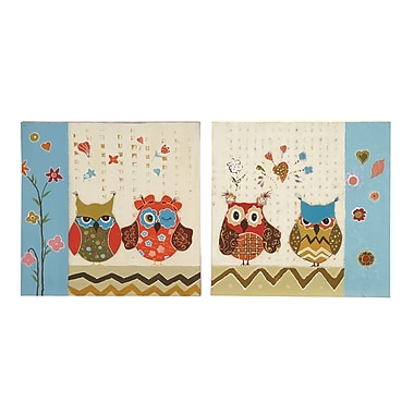 Woodland Imports Sassy Styled 2 Piece Painting Print on Canvas Set