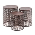 Woodland Imports The Cute 3 Piece End Table Set