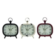 Woodland Imports Shanghai Metal Table Clock (Set of 3)