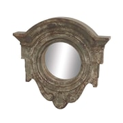 Woodland Imports Captivating Wood Wall Mirror