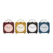 Woodland Imports The Delightful Metal Desk Clock (Set of 4)