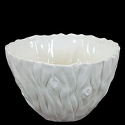 Woodland Imports Elegant and Beautiful Ceramic Serving Bowl; Small