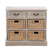 Woodland Imports The Rural Wood 4 Basket Chest