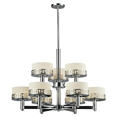 Z-Lite Elea 9 Light Drum Chandelier; Chrome