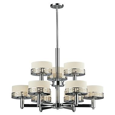 Z-Lite Elea 9-Light Drum Chandelier; Chrome