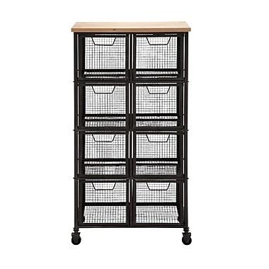 Woodland Imports Organize w/ Metal & Wood Storage Cabinet
