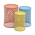 Woodland Imports 3 Piece Colorful End Tables Set