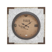 Woodland Imports Incredible Unique Styled Metal Wall Clock
