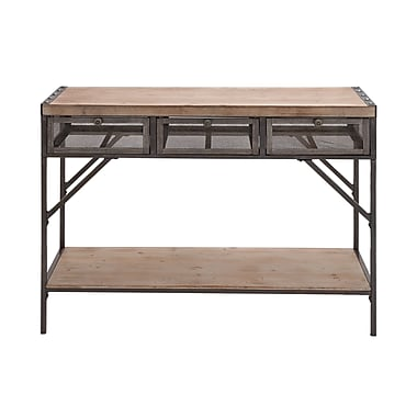 Woodland Imports Perfect Wood / Metal Console Table