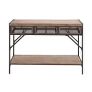 Woodland Imports Perfect Wood & Metal Console Table