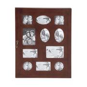 Woodland Imports The Joyous Wood Glass Wall Photo Cabinet