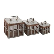 Woodland Imports 3 Piece Classy Metal Wire Basket Set