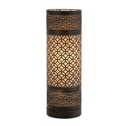 Woodland Imports Attractive Bright Cylinder 20'' Table Lamp with Drum Shade