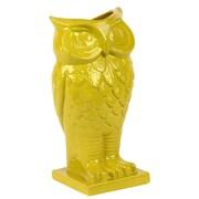 Woodland Imports Beautiful and Spectacular Owl Design Ceramic Vase; Yellow