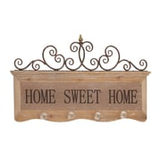 Woodland Imports Attractive Wood / Metal Wall Hook