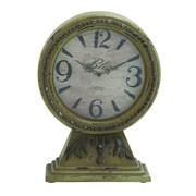 Woodland Imports Customary Chinese Wood Table Clock