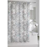 Kassatex Cotton Paisley Shower Curtain; Blue/Gray