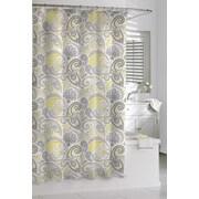 Kassatex Cotton Paisley Shower Curtain; Yellow/Gray