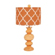 Woodland Imports Contemporary 26'' H Table Lamp with Drum Shade; Orange