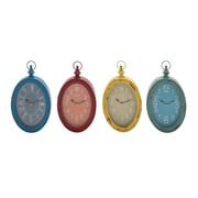 Woodland Imports The Must Have Metal Wall Clock (Set of 4)