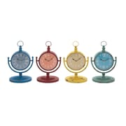 Woodland Imports The Amazing Metal Desk Clock (Set of 4)