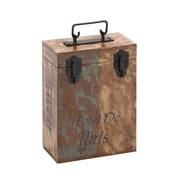 Woodland Imports The Amazing Wood 2 Bottle Wine Box