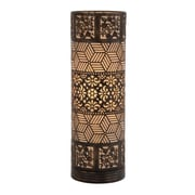 Woodland Imports Well Designed Cylinder 20'' H Table Lamp with Drum Shade