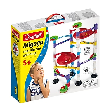 Quercetti Marble Run Spinning Playset, 90 Pieces