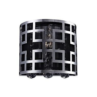 Z-Lite Mirach (839CH-1S) 1 Light Crystal Vanity Light, 4.33