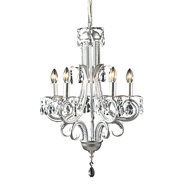 Z-Lite Pearl (849S) 5 Light Crystal Chandelier, 14.75