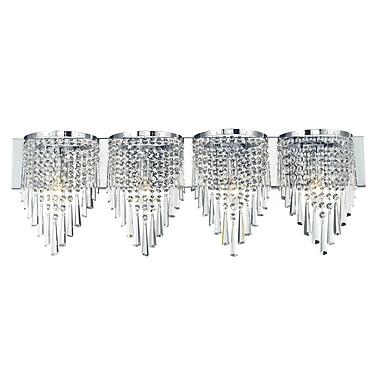 Z-Lite Tango (868CH-4V) 4 Light Crystal Vanity Light, 4.5