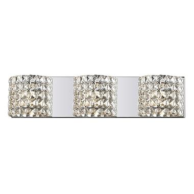 Z-Lite Panache (867-3V) 3 Light Crystal Vanity Light, 3.54