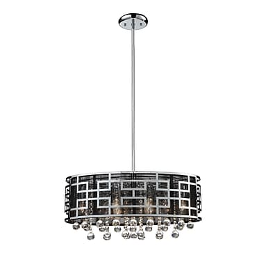 Z-Lite Mirach (840CH) 6 Light Crystal Chandelier, 22