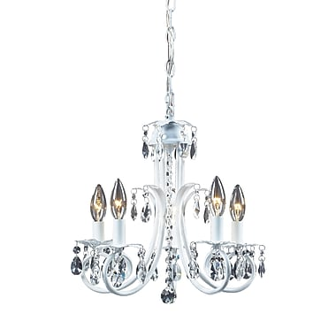 Z-Lite Pearl (853W) 5 Light Crystal Chandelier, 15