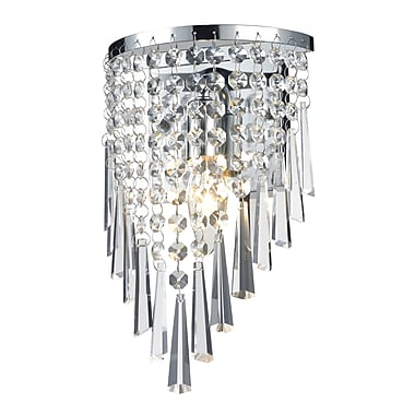 Z-Lite Tango (868CH-1S) 1 Light Crystal Vanity Light, 4.5