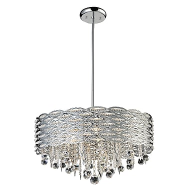 Z-Lite Adara (842CH) 6 Light Crystal Chandelier, 20.5
